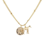 Lux Accessories Women's Girl's Gold Tone Live to Ride Horse Charm Necklace