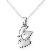 Sterling Silver Traditional Scottish Design From The Heart of Scotland Shaped Necklace Pendant - Includes a 41cm Sterling Silver Chain