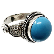 Law 925m silver ring size 12 synthetic blue stone [AB5138]