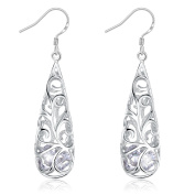 Vintage Tear Drop Dangle Earrings for Women, 925 Sterling Silver 5A Zirconia J.Rosée Jewellery Best Valentines Gift for Women Gift with Gift Packed