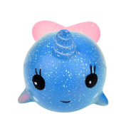 Squishies, ADESHOP Slow Rising Squishy Toy Squishy Cartoon Cute Charm Whale Toys for Boys and Girls