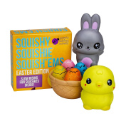 Slow Rising EASTER BUNNY & FRIENDS JUMBO SQUISHIES PACK in GIFT WORTHY BOX