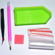 Aulley Painting Cross Stitch Tool Mosaic Beads Embroidery DIY Pen Glue Plastic Tray Set Sewing Accessories