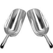 Set of 2 Large (1120ml) BonBon Aluminium Ice Scoop, Dry Goods Bar Scooper High Grade Commercial Scoop