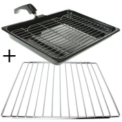 Reliapart Universal Oven Cooker Grill Pan, Rack + Handle + Adjustable Shelf