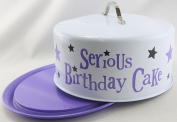 The Bright Side serious birthday cake large round lidded storage tin secure grip