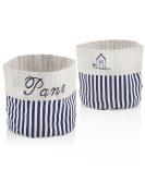 Sea Bread Basket Blue and White Stripe Fabric Ric.Blue 16 x 16 x 0.2 cm One Size