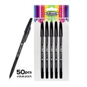 Fullmark NEW Ballpoint Pen, Fine Point 0.7mm, Black, 50pcs
