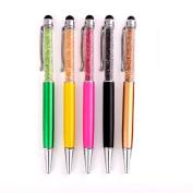 Kanggest 5Pcs Novelty Ballpoint Pens 0.7mm Metal Crystal Ball point Pen Creative Stationery Ballpoint Pens Funny Gift Pens for Children Kids Boys Girls Black or Blue Ink