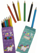 Home Tools. EU® Unicorn – 12 Coloured Pencils/Yellow Red/Green/Blue Black/Wooden Coloured Pencils Pack of 12