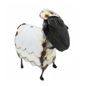 Rustic Arrow Sheep Round Head Yard Art-Mini