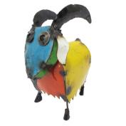 Rustic Arrow Goat Round Head Yard Art-Mini