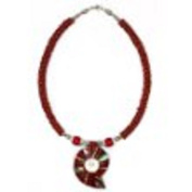 Shell Necklace - Coral