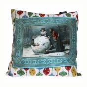 Art Cushion Cover - Innocent Mirth - Retro Christmas
