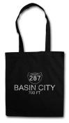 Basin City Shopper Reusable Hipster Shopping Cotton Bag
