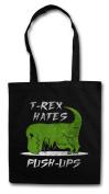 T-Rex Hates Push-Ups Shopper Reusable Hipster Shopping Cotton Bag