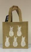 Hessian Tote Lunch Bag - Pineapple Print
