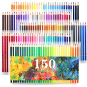 Laconile 150 Watercolour Pencils Vibrant Colours Pre-Sharpened Coloured Pencils Set for Adult Colouring Books Artist Drawing Sketching Crafting