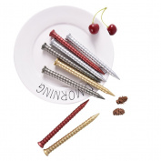 XyHana Whimsy 4 PCS Screw Type Gel Pen Originality funny School Stationery, 0.38MM, Black Ink, Colour Random