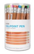Kikkerland Wooden Ballpoint Pens