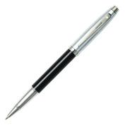 Sheaffer 100 Series Rollerball Pen Brushed Chrome Cap Black Barrel - Nickel Trim E1931351-30 Presented in a Premium Gift Box
