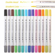28 Gradient Colour Art Brush Markers Artist Dual Headed Watercolour Marker Pen For Drawing Colouring Design Manga Calligraphy