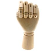 25cm Manikin Wooden Left Hand Body Artists Model Articulated