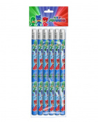 PJ MASK 6 pencils with built in rubber