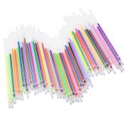 Kanggest 48 Colours Highlighter Refills Gel Pen Refills for Gel Pens, Highlighter Metallic Neon Styles Colouring 0.1mm Tip