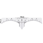 One-time Microblading Makeup Brow Measure Eyebrow Guide Ruler Permanent Tools Stencils MML