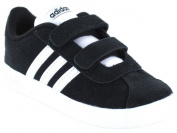 Adidas VL Court 2.0 CMF I Tennis Shoes, Children, black,