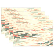 BENNIGIRY Kitchen Dining Room Placemat Table Mat, Sea Wave 30cm x 46cm Polyester Table Place Mat 1 PCS