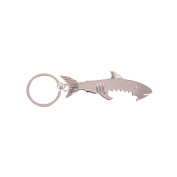 Practical Key Chain Bottle Opener Gadget Shark Silver Animals Symbol