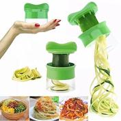 Malloom 2018 New Handheld Vegetable Spiralizer Green Small and Light Versatile Hand Held Spiralizer