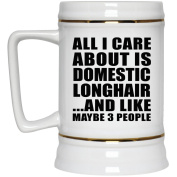 All I Care About Is Domestic Longhair And Like Maybe 3 People - Beer Stein, Ceramic Beer Mug, Best Gift for Birthday, Anniversary, Easter, Valentine's Mother's Father's Day