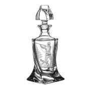 Pack of Aljulia Whiskey Carafe Glass, 500ml, 13 x 13 x 26 cm