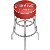 "Coca-Cola ""Delicious Refreshing"" Padded Swivel Bar Stool"