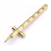 Bescita Gold Minimalism Superfine Ballpoint Pen Pure Brass Stationery Copper Pen