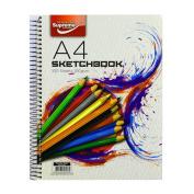 A4 Spiral 100 Sheet 200 Sides Sketch Book 100 Gramme Paper