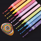 Bianyo Glass Paint Marker Pen - Fine Tip Colour Pen for Drawing on Stones, Ceramic,Paper Fabric