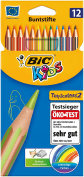 Bic kids crayon Tropicolors 2 colouring pencils, coloured assorted cardboard box 12er Kartonetui
