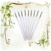 CosCosX 10 Pieces White Fine Hand-painted Thin Hook Line Pen Drawing Art Pens Paint Brush£¨S£©