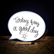 LED LIGHT UP SPEECH BUBBLE BOX WRITE YOUR OWN MESSAGE SIGN PARTY HOME DECOR FUN