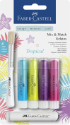 Faber-Castell Watersoluble Gelato Crayons Set - Tropical