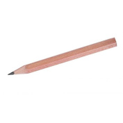 Pack of 144, SMCO 5 Star compatible Half Pencils, Wooden, Half Length, HB, Plain-