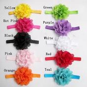 Zantec Baby Girls Headbands Newborn Toddler Hollow Out Flower Headdress 10Pcs/Pack