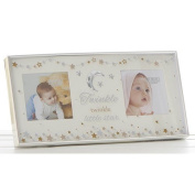 Twinkle Twinkle Little Star Moon and Stars Double Picture Photo Frame