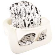 Highchair cushion Ukje Stokke Steps - White black feather - Coated ♥