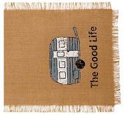 90cm . The Good Life (Camper) Burlap Table Runner