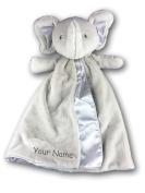 Personalised GUND Bubbles Elephant Huggybuddy Baby Blanket Snuggle Blanky - 43cm